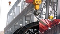 河北钢铁股份有限公司 钢体滑线安装现场